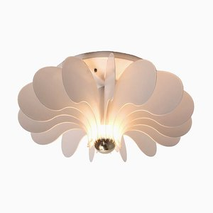 White Metal Ceiling or Wall Lamp by Sneyders de Vogel for Raak, 1970s