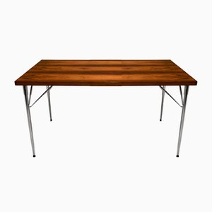 Mid-Century Rosewood and Steel Dining Table by Børge Mogensen for Søholm