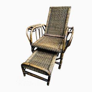 Vintage Bauhaus Stuhl aus Rattan von Erich Dieckmann, 1920er