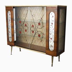 Vintage Glass Display Cabinet, 1950s