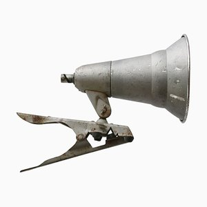 Vintage Industrial Gray Metal Clamp Work Sconce