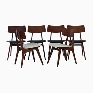 Stavanger Dining Chairs by Louis van Teeffelen for WéBé, 1960s, Set of 6