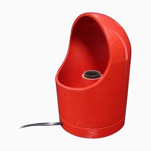 Italienische Rote Mid-Century Tischlampe, 1960er
