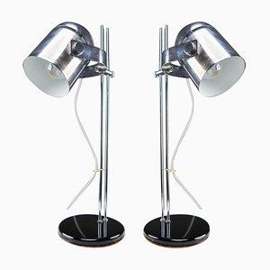 German Steel Adjustable Height Desk Lamp, 1970s