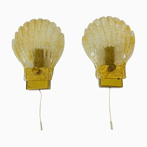 Mid-Century Shell Wall Lights from Fischer Leuchten, 1960s, Set of 2