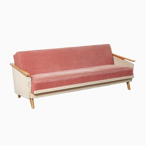Red and Cream Sofa-Bed, 1950s