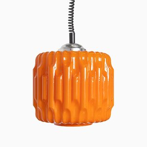 Orange Hanging Lamp, 1970s