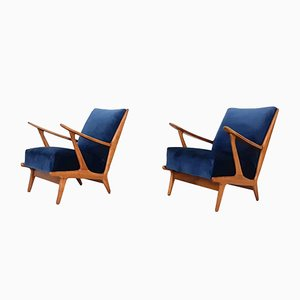 Vintage Lounge Chairs, Netherlands, 1960s, Set of 2