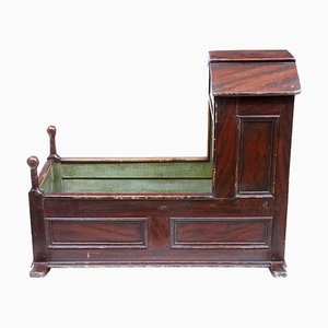 19th Century Painted Pine Childs Cradle