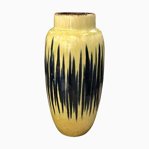 Mid-Century German Yellow and Blue Ceramic Vase from Scheurich, 1970s