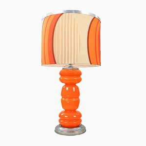 Table Lamp with Fabric Lampshade, 1970s
