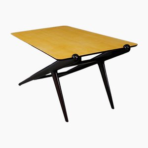 Mid-Century Ebonized Wood Coffee Table from ISA Bergamo, 1950s