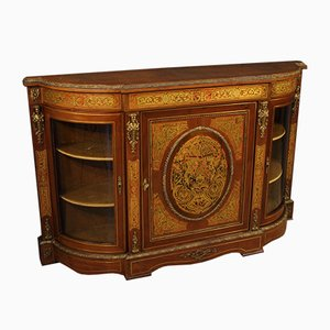 French Mahogany and Walnut Boulle Style Sideboard, 1960s