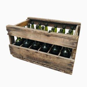 Antique French Beer Crate, 1930s