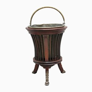 Antique Mahogany and Brass Planters, Set of 2