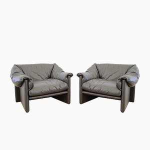 Model Babalao Armchairs by Vico Magistretti for Cassina, 1970s, Set of 2