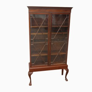 Antique Mahogany Astragal Bookcase on Stand, 1900s