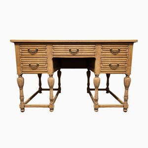 19th Century French Bleached Oak Desk