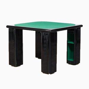 Italian Black Lacquered Wood Game Table by Pierluigi Molinari for Pozzi, 1970s