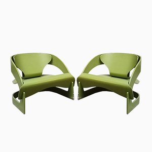 Model 4801 Lounge Chairs by Joe Colombo for Kartell, 1960s, Set of 2