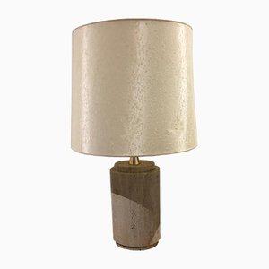 Lámpara de mesa de travertino, años 70