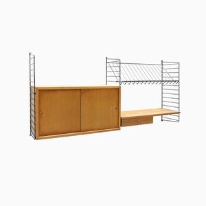 "Vintage Modular String Wall Units by Strinning, Kajsa & Nils ""Nisse"" for String, 1960s"