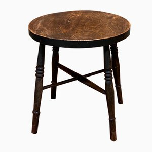 19th Century English Elm Pedestal Table