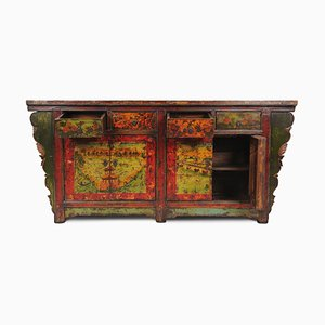 Antique Sideboard with Hand Painted Landscapes