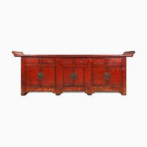 Altare antico laccato rosso
