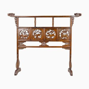 Antique Chinese Carved Garment Rail