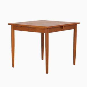 Danish Teak Extension Drop-Leaf Dining Table, 1960s