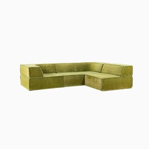 Swiss Green Trio Modular Sofa by Team Form Ag for Cor, 1970s