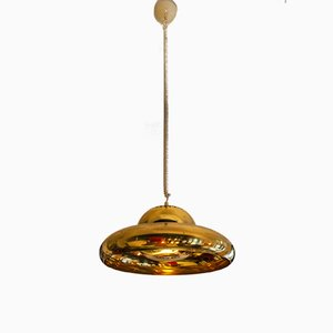 Brass Fior di Loto Ceiling Lamp by Tobia & Afra Scarpa for Flos, 1960s