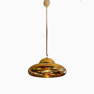 Lampada da soffitto Fior di Loto in ottone di Tobia & Afra Scarpa per Flos, anni '60
