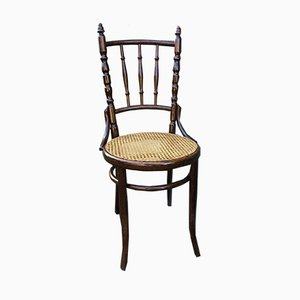 Antique French Bistro Dining Chairs, Set of 4