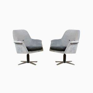 Velvet Swivel Chair, 1970s