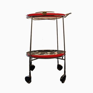 Italian Abstract Trolley with Removable Trays, 1950s