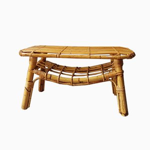 Rattan Coffee Table, 1970s