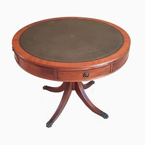 Antique Mahogany Swivel Game Table