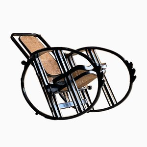 Vintage Italian No. 267 Egg Rocking Chair by Josef Hoffmann for Antonio Volpe, 1980s