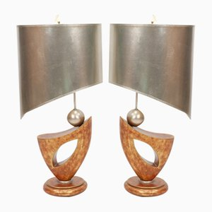 Regency Table Lamps from Leeazanne, 1980s, Set of 2