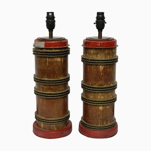Antique Industrial Style Table Lamps, Set of 2