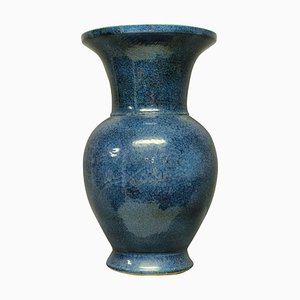 Mid-Century Blue Ground Glazed Vase