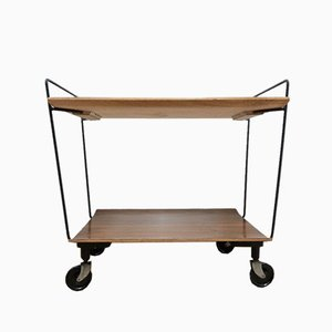 Mid-Century Danish Teak and Metal Trolley, 1960s