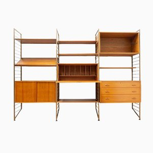 Mid-Century Teak Shelving Desk Bookcase from Ladderax