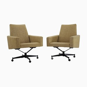 Swivel Chairs, Czechoslovakia, 1970s, Set of 2