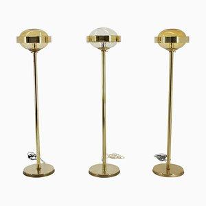 Preciosa Stehlampen in Gold, Tschechoslowakei, 1970er, 3er Set