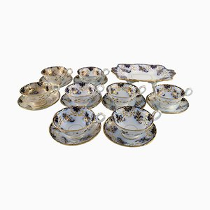 Antique Tea Service from Davenport, Set of 17