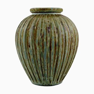 Art Deco Danish Glazed Ceramic Vase by Arne Bang