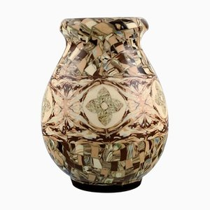 Ceramic Vase with Mosaic Decor by Jean Gerbino for Vallauris
